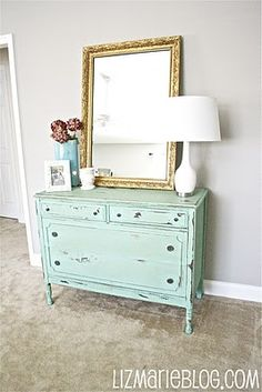Love this dresser from http://www.lizmarieblog.com/2011/10/changes-in-living-room.html