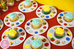 Brayden's Art Party - Shopkins Party Ideas Cupcake Decorating Party, Cupcake Party, Artist Birthday Party, Birthday Party Themes, Birthday Ideas, Kids Art Party, Painting Party Kids, Kunst Party, Fun Craft