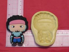 Hero Character Silicone Push Mold  #181 Candy Cake Resin Clay Fondant Chocolate #LobsterTailMolds