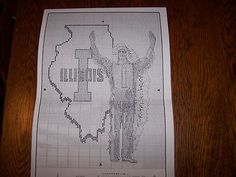 Chief Illini Illinois UI Pattern CrossStitch Illiniwek | eBay