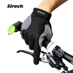 Sireck Man Women Cycling Gloves Touchscreen Breathable MTB Road Bicycle Gloves Bike Guantes Ciclismo Red Black Bike Full Finger