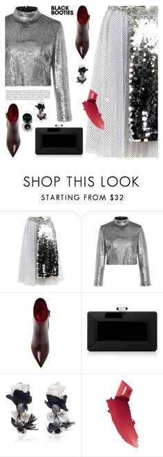 """""""Black booties"""" by jan31 ❤ liked on Polyvore featuring Anouki, A.L.C., Santoni, Judith Leiber, Ranjana Khan, By Terry and Bobbi Brown Cosmetics"""