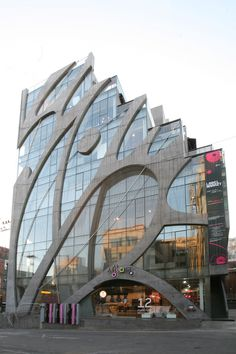"KTandG Sangsangmadang (meaning ""Imagination Grounds""), an indie culture hub in the hip Hongdae area, Seoul, South Korea. 7-story cultural complex building with 4-story basement."