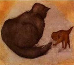 Cat and Kitten - Edward Burne-Jones