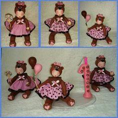 Ursinhas em biscuit da Jô