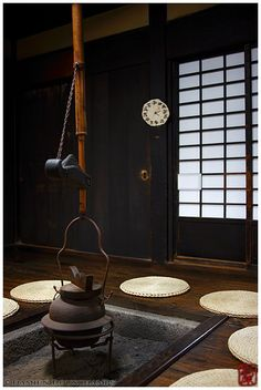 Shuon-an, Kyoto, Japan 京都 酬恩庵. This is a temple restored by Zen Master Ikkyu, who was famous for his wits, at the age of Asian Design, Japanese Design, Traditional Japanese House, Japanese Homes, Irori, Kyoto Japan, Okinawa Japan, Tokyo Japan, Japanese Tea Ceremony