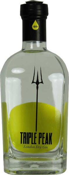 Gin von Triple Peak in der 0,5 liter Flasche mit 44% Vol.Alc.