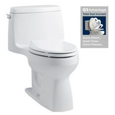 KOHLER Santa Rosa White 1.28-GPF (4.85-LPF) 12-in Rough-In WaterSense Elongated 1-Piece Comfort Height Toilet