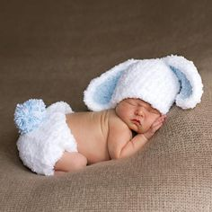 c60b495e839 Bunny Baby Bop For Baby Boys Hat and Diaper Cover  Melondipity Babys First Easter  Boy
