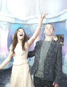 Georgie Henley and Will Poulter