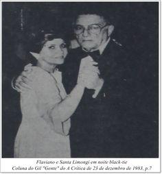 """Flaviano e Santa Limongi. Coluna do Gil """"Gente"""" do A Crítica de 23 de dezembro de 1983."""