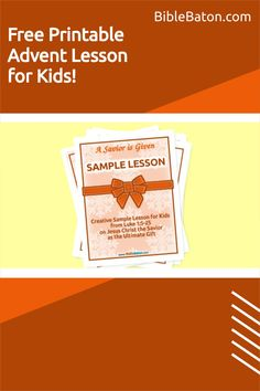 Looking for a free Advent lesson for children's church or Sunday School? Look no further! This Christmas Bible lesson plan for kids, based on Luke 1, does a beautiful job of introducing the events surrounding Christ's birth in a way that's fun and engaging for children. Click through to get your free printable Advent lesson for children now! Family Bible Study, Christmas Bible, The Birth Of Christ, Luke 1, Bible Lessons For Kids, Object Lessons, Hands On Activities, Sunday School, Advent