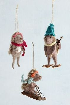 Sporting Hedgehog Ornament