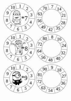 Multiplication Wheels - get cr 2nd Grade Math, Math Class, Math Games, Math Activities, Multiplication Wheel, E Learning, School Worksheets, Math For Kids, Math Resources