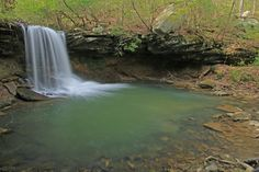 Barnes Branch Falls, Barnes Branch, The Domain, University of the South, Franklin County, Tennessee 1