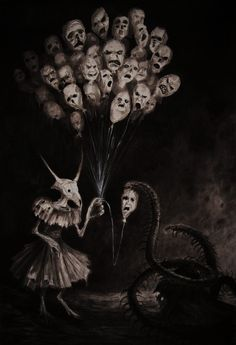 Explore the Horror, Gore and general unpleasantness collection - the favourite images chosen by LydiaKitten on DeviantArt. Creepy Horror, Creepy Art, Scary, Creepy Pics, Arte Horror, Horror Art, Macabre Art, My Demons, Bizarre