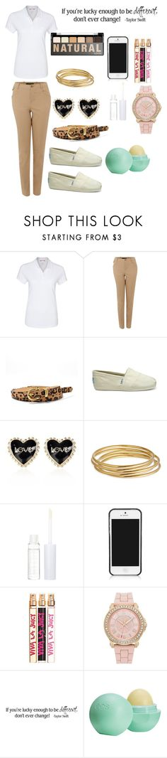 """How to Spice Up a School Uniform"" by diy-queen ❤ liked on Polyvore featuring MUSTANG, Lauren Ralph Lauren, FOSSIL, TOMS, River Island, Astley Clarke, Lord & Berry, NYX, Tory Burch and Juicy Couture"