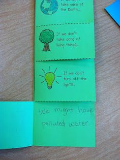 """earth day flip books for teaching cause and effect - link to """"wegivebooks.org"""" <----- teacher friends - free online/interactive whiteboard books??? wegivebooks.org!!"""