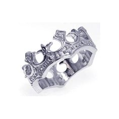 925 Sterling Silver Ladies Jewelry Crown Cubic Zirconia Ring