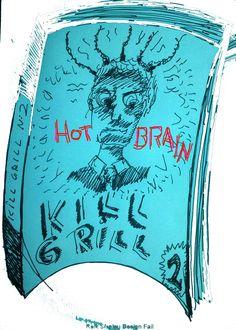 "Cover Book Pulp ""Kill Grill Vol 2: Hot Brains: Edition bilingual english spanish buy in Amazon"