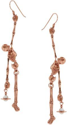 Vivienne Westwood Vivienne Westwood Skeleton Earrings in Gold