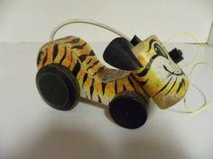 Vintage Fisher Price 654 Tawny Tiger 1962 #FisherPrice Fisher Price Toys, Vintage Fisher Price, Rocking Horses, Pull Toy, Ol Days, Good Ol, School Fun, Little People, Kitsch
