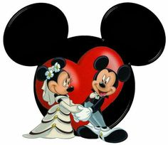 Mickey & Minnie Mouse as a happy married couple