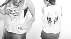 Diy: ripped t-shirt