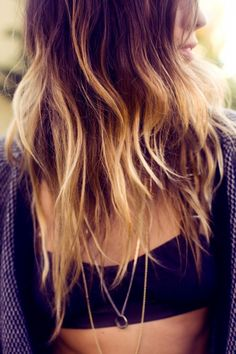 Brown & Blond Ombre Hair