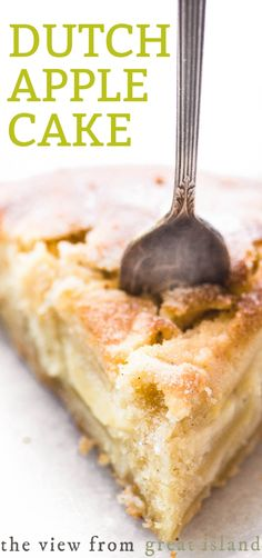 apple recipes Every bite of this Dutch Apple Cake is sweet and juicy thanks to a no fail cake batter, layers of thinly sliced Honeycrisp apples, and a touch of spice. Dutch Recipes, Baking Recipes, Amish Recipes, Food Cakes, Cupcake Cakes, Cake Cookies, Cupcakes, Dutch Apple Cake, Apple Pie Cake