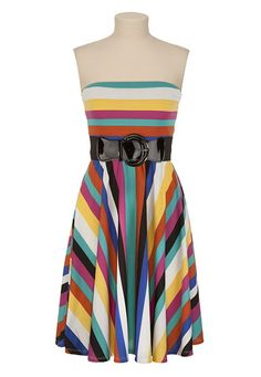 Belted Multi-Colored Stripe Dress - maurices.com - FOR ME!!