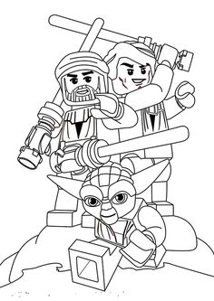 Lego Star Wars Coloring Pages | Craft ideas | Kid stuff | Pinterest ...