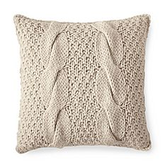 Alicia Adams Chunky Knit Pillow Cover – Ivory Serena & Lily