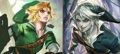 Link and dark Link by Sakimi chan http://sakimichan.deviantart.com/