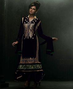 Dark Purple Pakistani Style Kameez Online Shopping : GSL2110