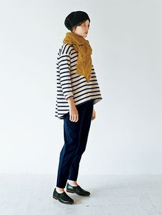 simple, style, fashion, stripes, mustard, autumn