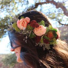 Succulent and Floral Crown Headband