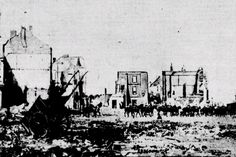 The destruction of Louvain (Leuven), Belgium, 1914. #WW1