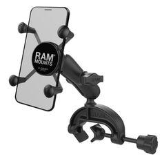 RAM-B-121-202U Yoke Clamp Mount with Double Socket Arm and Round Base Adapter RAM MOUNTS