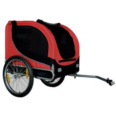 Merske Comfy Collapsible Pet Bike Trailer with Bike Hitch