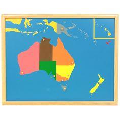 Puzle de madera con marco con diseño de Australia, para que los niños aprendan sus diferentes países. Cada pieza se puede manipular para extraer del puzle y volver a colocar gracias a unbotón de agarreque incluye. Este material de lametodología Montessori,es perfecto para que, en una primera etapa los niños jueguen a realizar el puzle desarrollando así la motricidad fina y la coordinación de mano y ojo. Más adelante, se enseñan a los niños de una manerasensorial, tocando y manipulando…