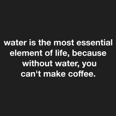 Love drinking my water .after my coffee! Love drinking my water .after my coffee! 💦 ☕️ Thank you Renee Raven for this! Coffee Talk, Coffee Is Life, I Love Coffee, My Coffee, Coffee Drinks, Coffee Break, Coffee Lovers, Espresso Coffee, Black Coffee