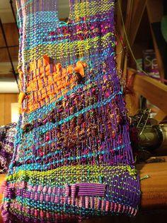 Ravelry: nickolena's Two spring saori wal scarves