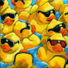 Yellow rubber ducky's Linda Apple
