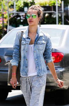 #Casual #Fashion #Style #Outfit #Denim #Jacket #Sweatpants #Clothing #Cute #Stylish