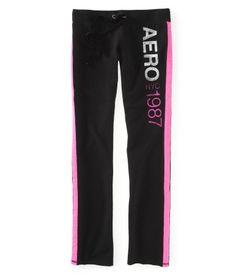 Aero NY 1987 Stripe Boyfriend Sweat Pants look comfy