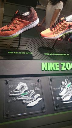 Nike Signage Display, Retail Signage, Shoe Display, Pop Design, Booth Design, Nike Retail, Environmental Graphic Design, Exhibition Stand Design, Retail Store Design