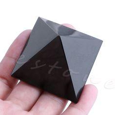 1ピースナチュラルブラックオブシディアン水晶振動子ピラミッドストーンホームインテリア治癒ギフトクリスマスプレゼント