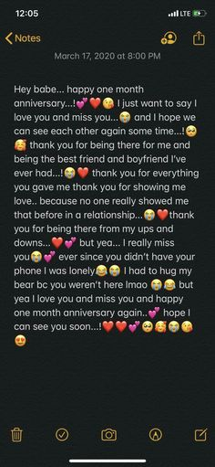 Sweet Messages For Boyfriend, Love Text To Boyfriend, One Month Anniversary Quotes, Anniversary Boyfriend, Happy Anniversary, Anniversary Cards, Relationship Paragraphs, Relationship Texts, Relationships