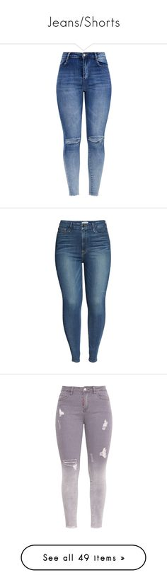 """Jeans/Shorts"" by wiffeyhaila ❤ liked on Polyvore featuring jeans, pants, bottoms, destroyed skinny jeans, dark wash ripped skinny jeans, high waisted skinny jeans, high waisted ripped skinny jeans, skinny jeans, plus size and high-waisted jeans"